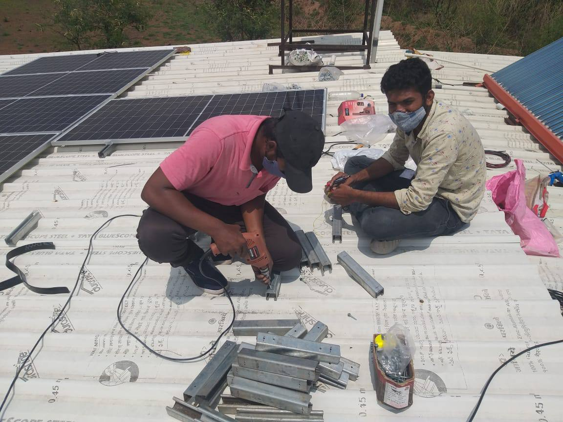 On the green track - installed a 10 KW Solar Electricity System at the Asawali
